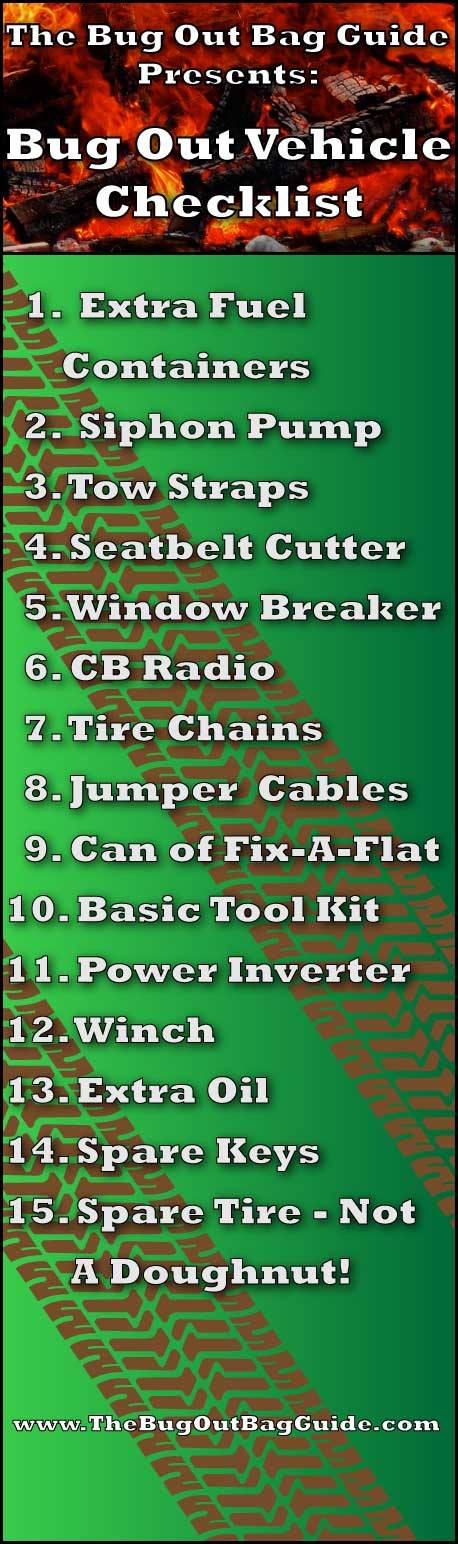 Best Bug Out Pojazd Checklist