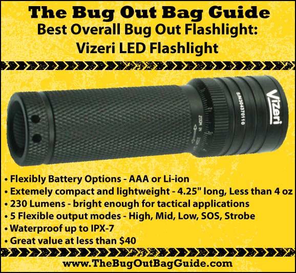 best overall bug out flashlight vizeri led flashlight