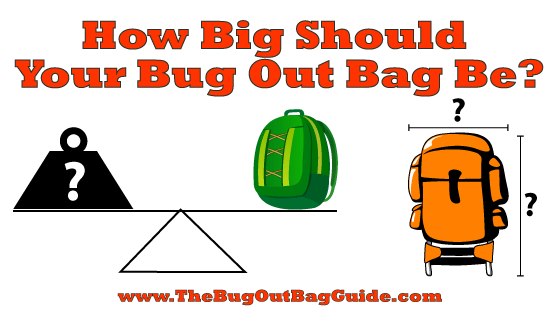 bug out bag size