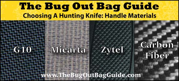 best hunting knife handle material