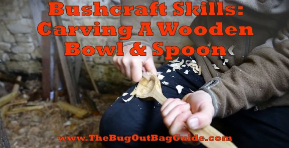 how to carve a wooden spoon and bowl